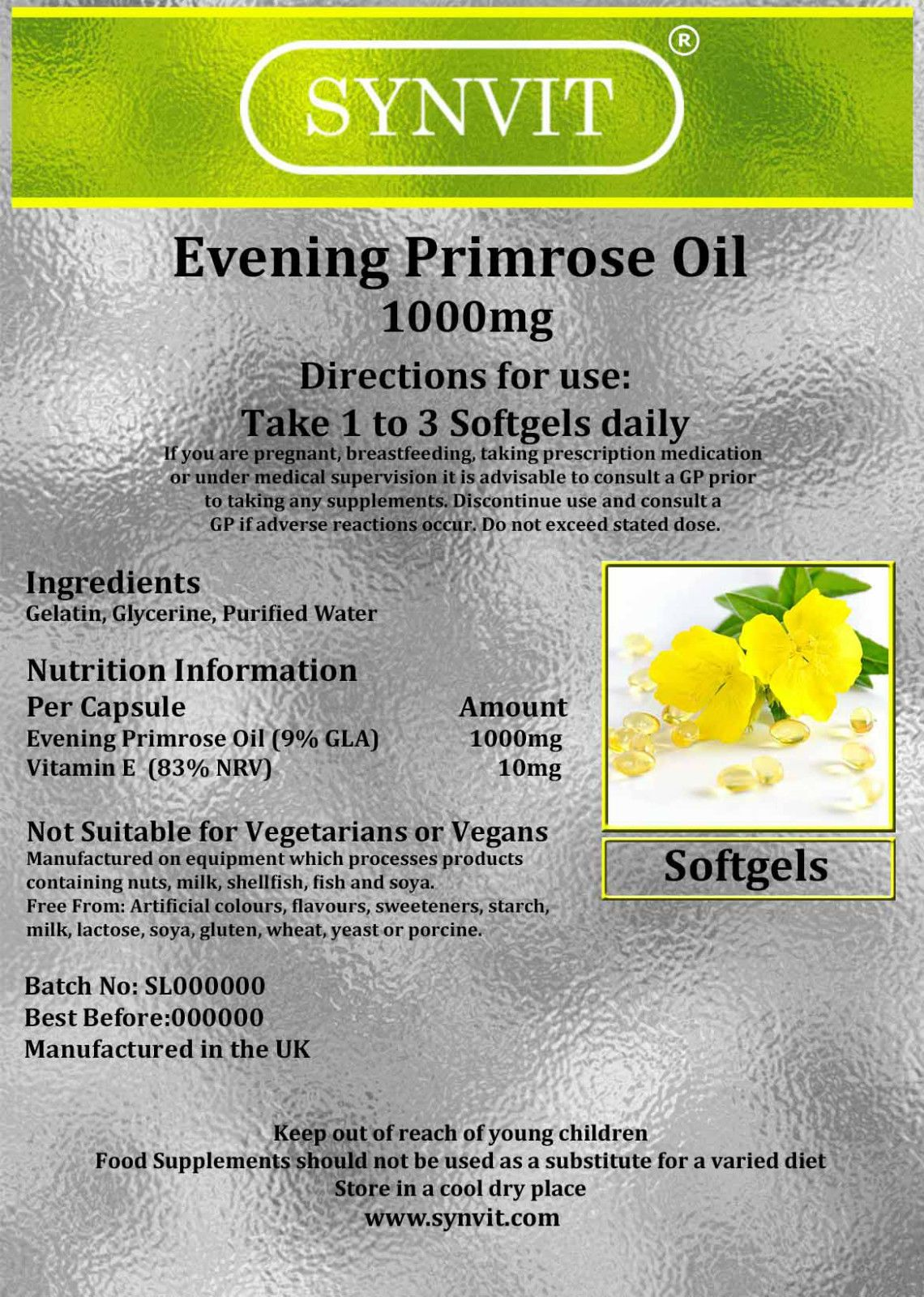 Evening Primrose Oil 1000mg SYNVIT®